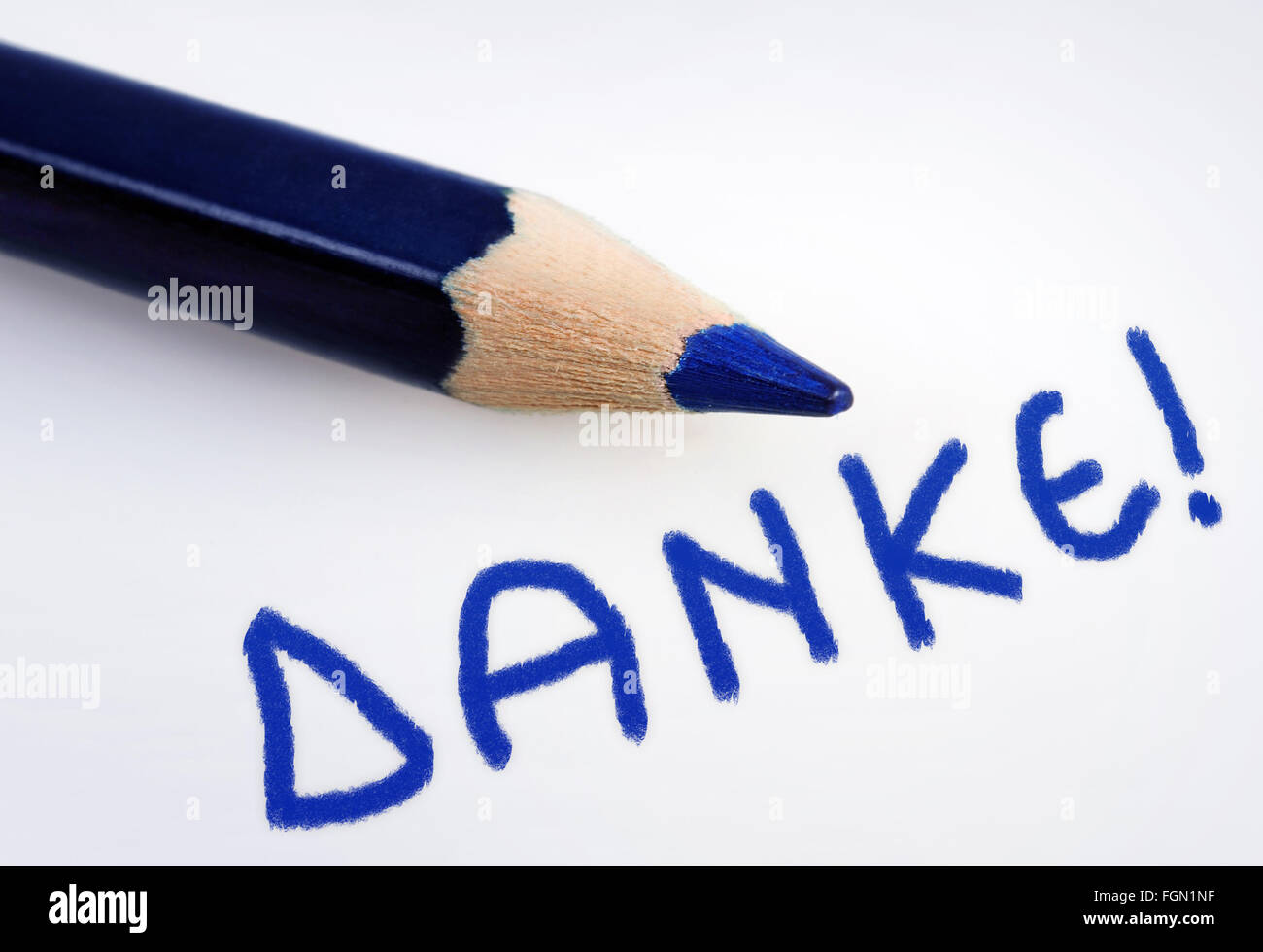 Danke word on grey background Stock Photo