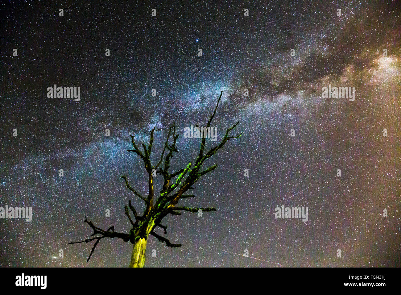 The Milky Way, Burgos Castilla Leon. Spain - Stock Image