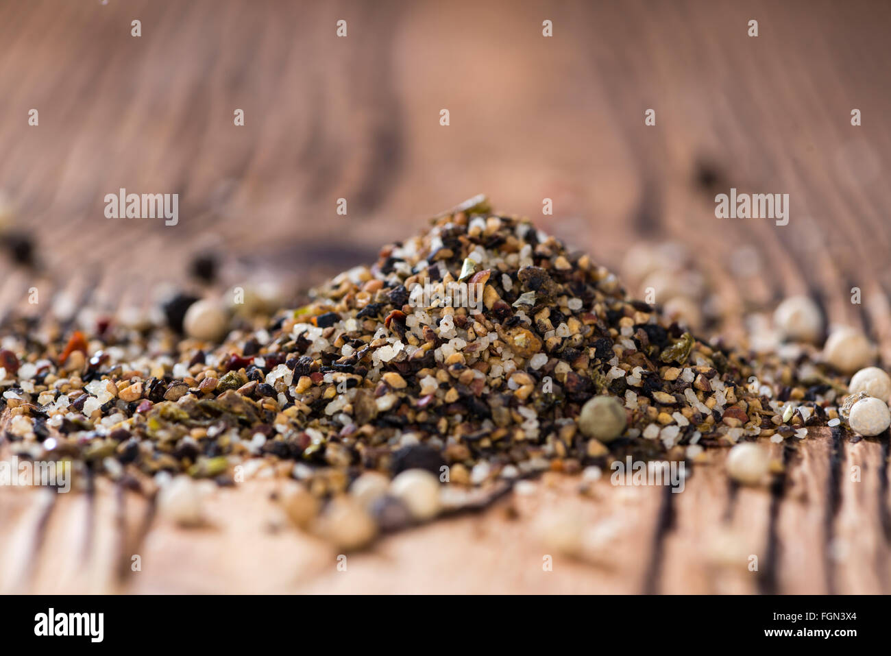 Portion of milled Peppercorns as detailed close-up shot - Stock Image