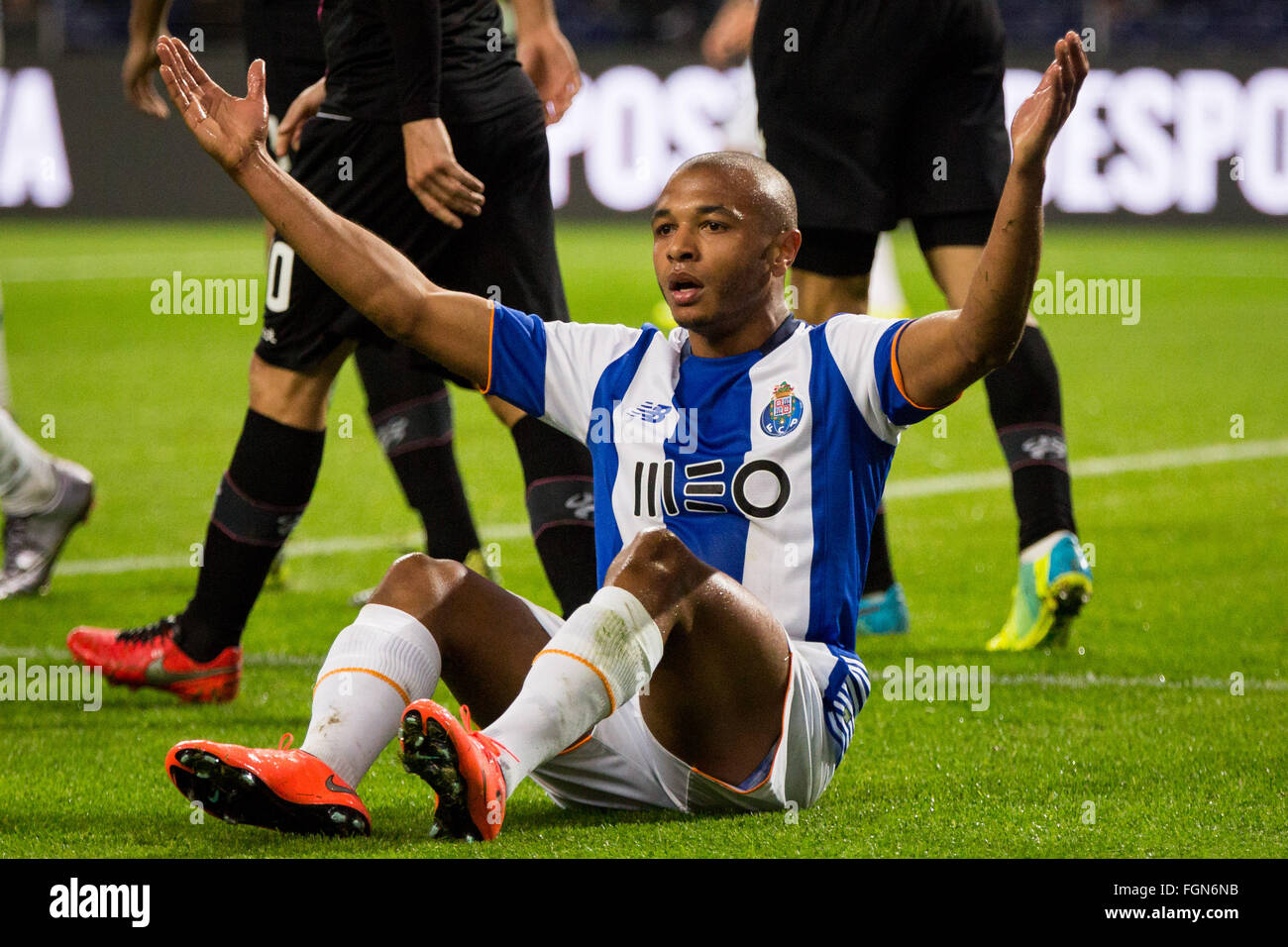 Dragon Stadium, Portugal. 21st February, 2016. FC Porto's player Brahimi during the Premier League 2015/16 match - Stock Image