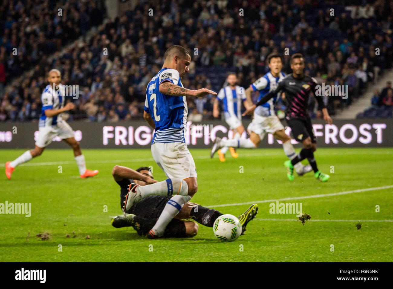 Dragon Stadium, Portugal. 21st February, 2016. FC Porto's player Maxi Pereira during the Premier League 2015/16 - Stock Image