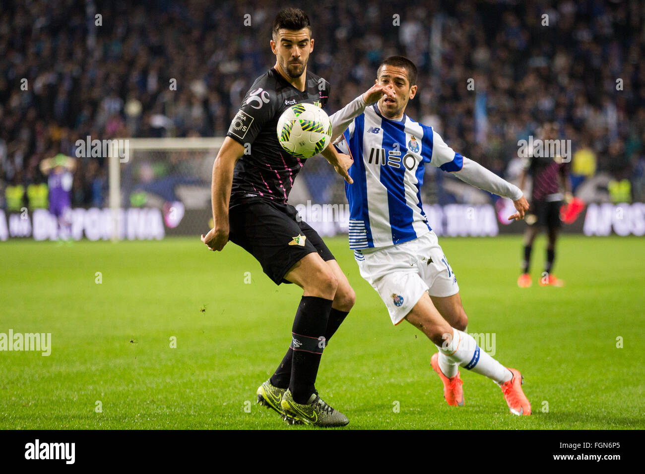 Dragon Stadium, Portugal. 21st February, 2016. FC Porto's player Evandro during the Premier League 2015/16 match - Stock Image