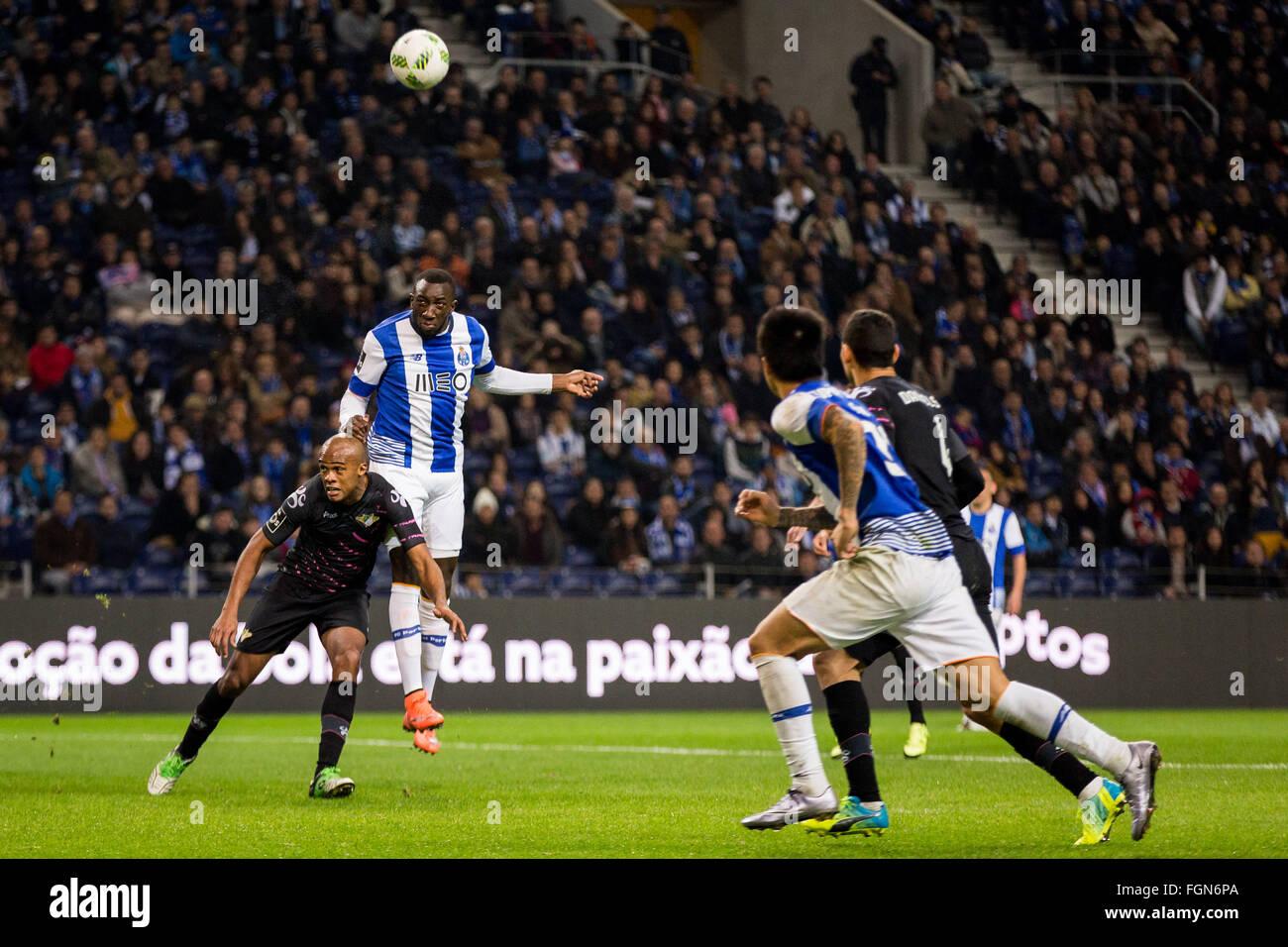 Dragon Stadium, Portugal. 21st February, 2016. FC Porto's player Danilo during the Premier League 2015/16 match - Stock Image