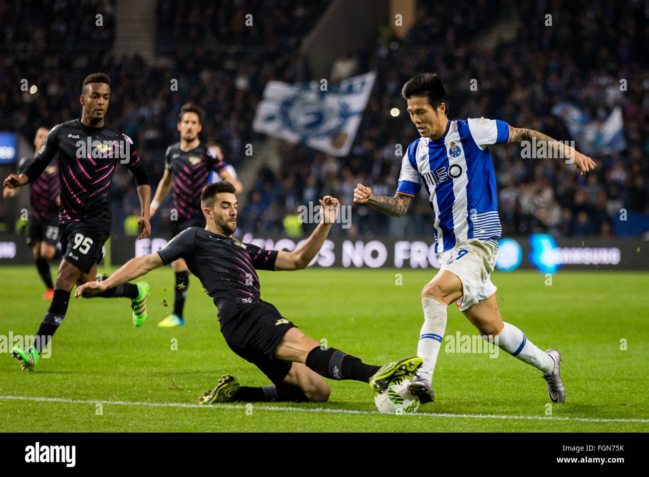 Dragon Stadium, Portugal. 21st February, 2016. FC Porto's player Suk during the Premier League 2015/16 match - Stock Image
