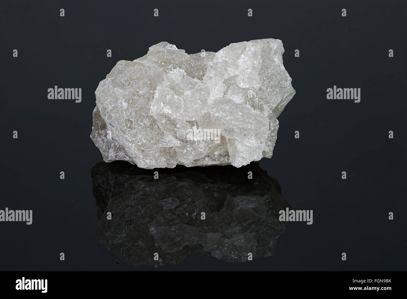 Anhydrite (anhydrous calcium sulfate), Ontario, Canada - Stock Image
