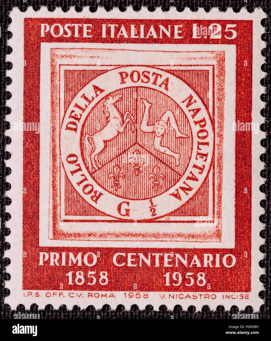 1958 Italian Mint Stamp Issued Stock Photos 1958 Italian Mint