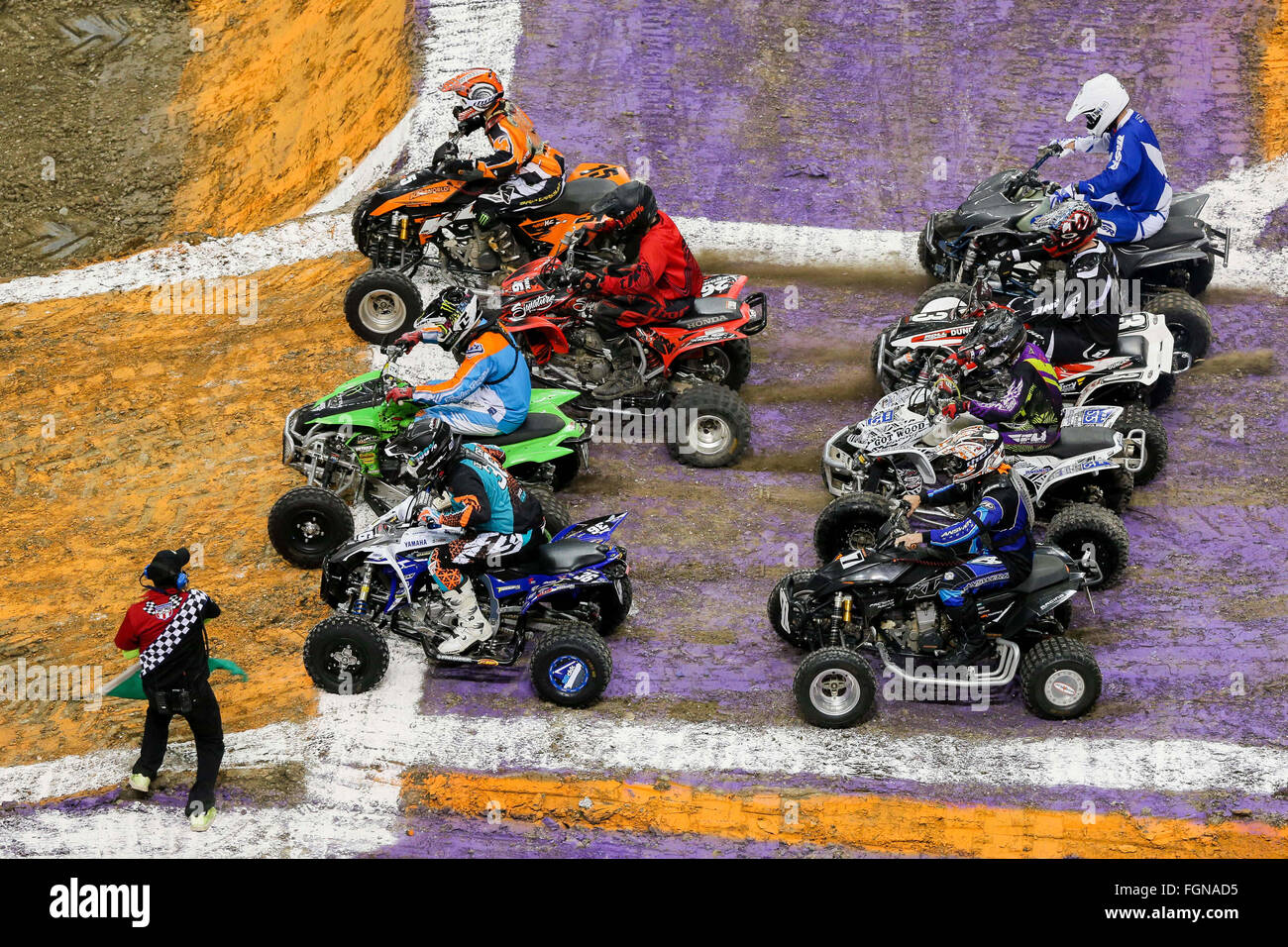 New Orleans, LA, USA  20th Feb, 2016  ATV racing during