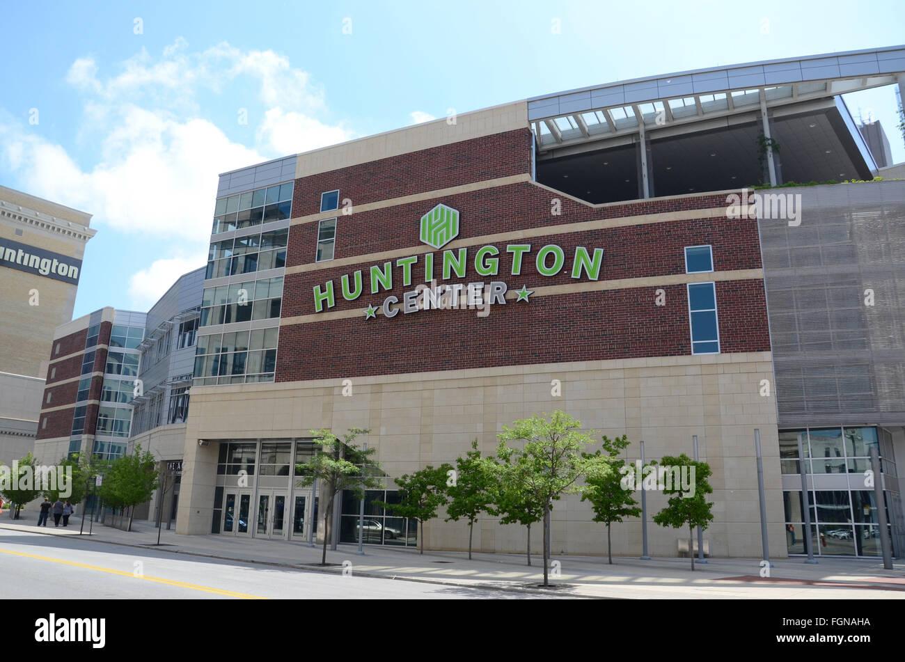 TOLEDO, OH - JUNE 2:  Toledo's Huntington Center, shown on June 2, 2015, is the home of the Toledo Walleye ECHL - Stock Image