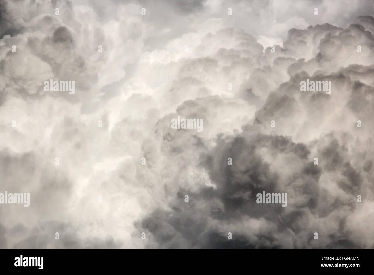 Cloud Skyscape Cumulus Clouds Thunderhead - Stock Image