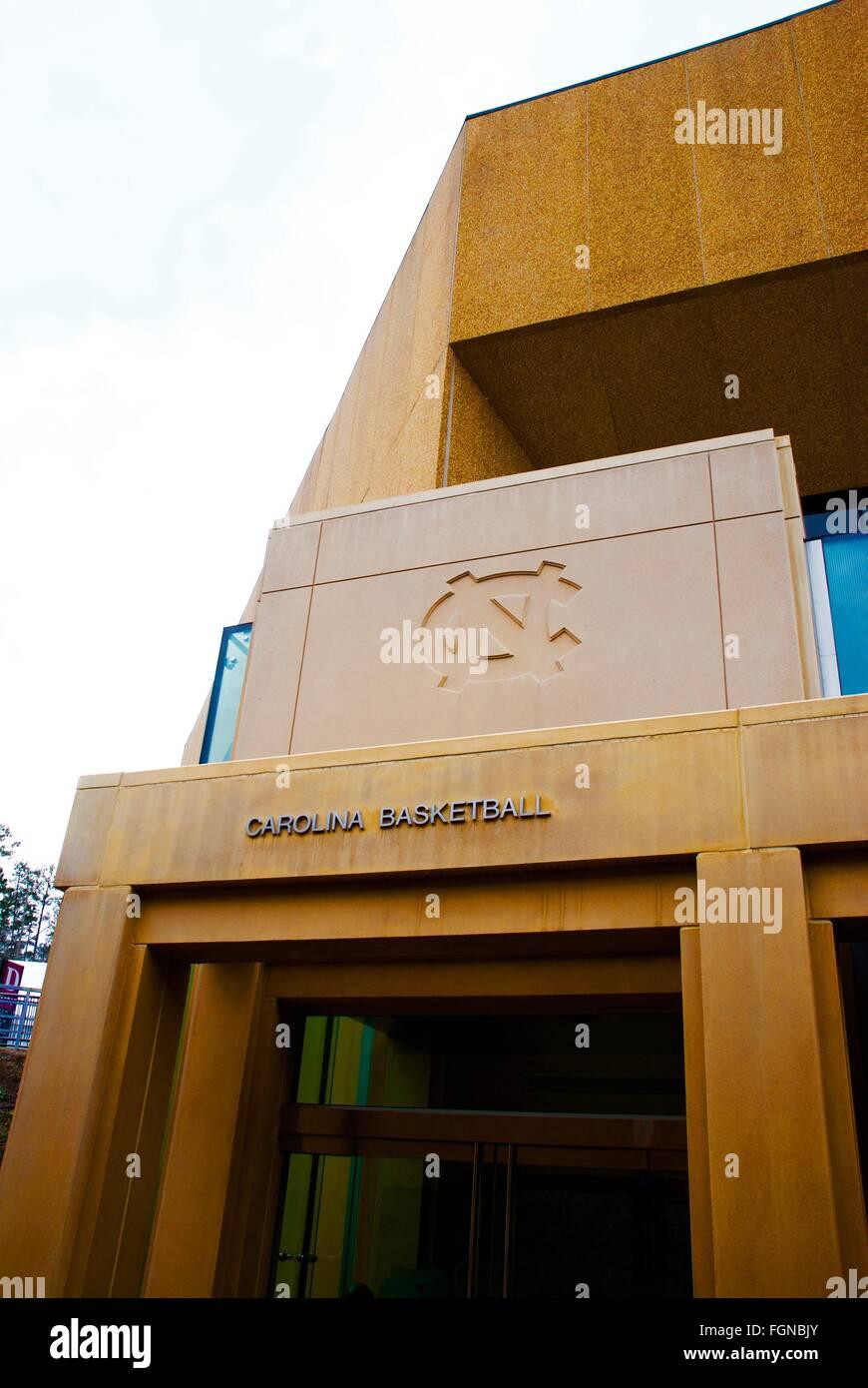 UNC Basketball stadium back entrance (Dean Smith Center) - Stock Image