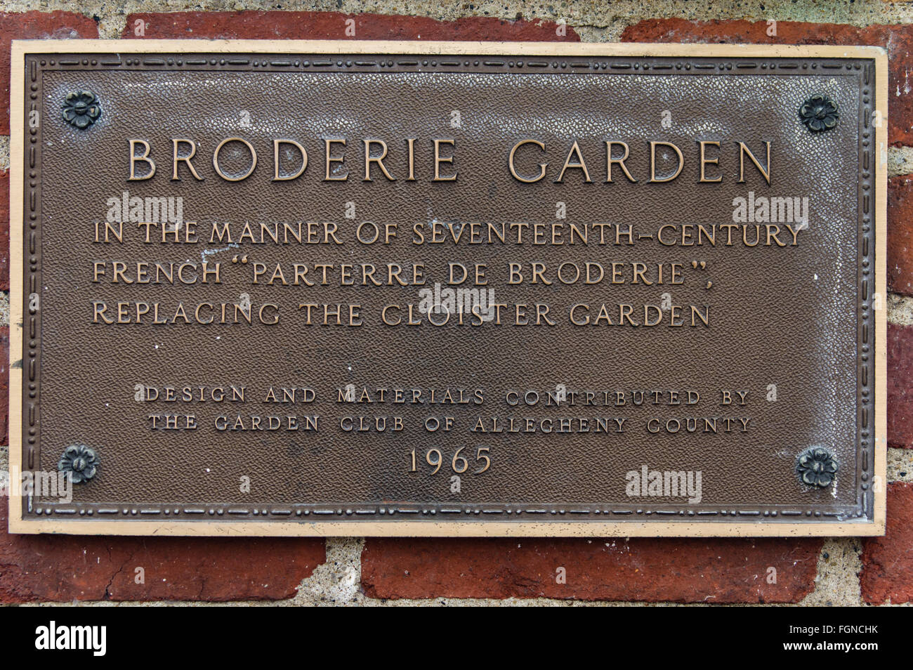 Bronze plaque for the Broderie Garden at Phipps Conservatory Stock on key club designs, snow ski club designs, photography designs, garden design dallas texas, running club designs, french club designs, ceramics designs, lions designs, health club designs, fashion club designs, car club designs, science club designs, book club designs, boat club designs, art designs, drama designs, events designs, 4-h club designs, nhs designs, fitness club designs,