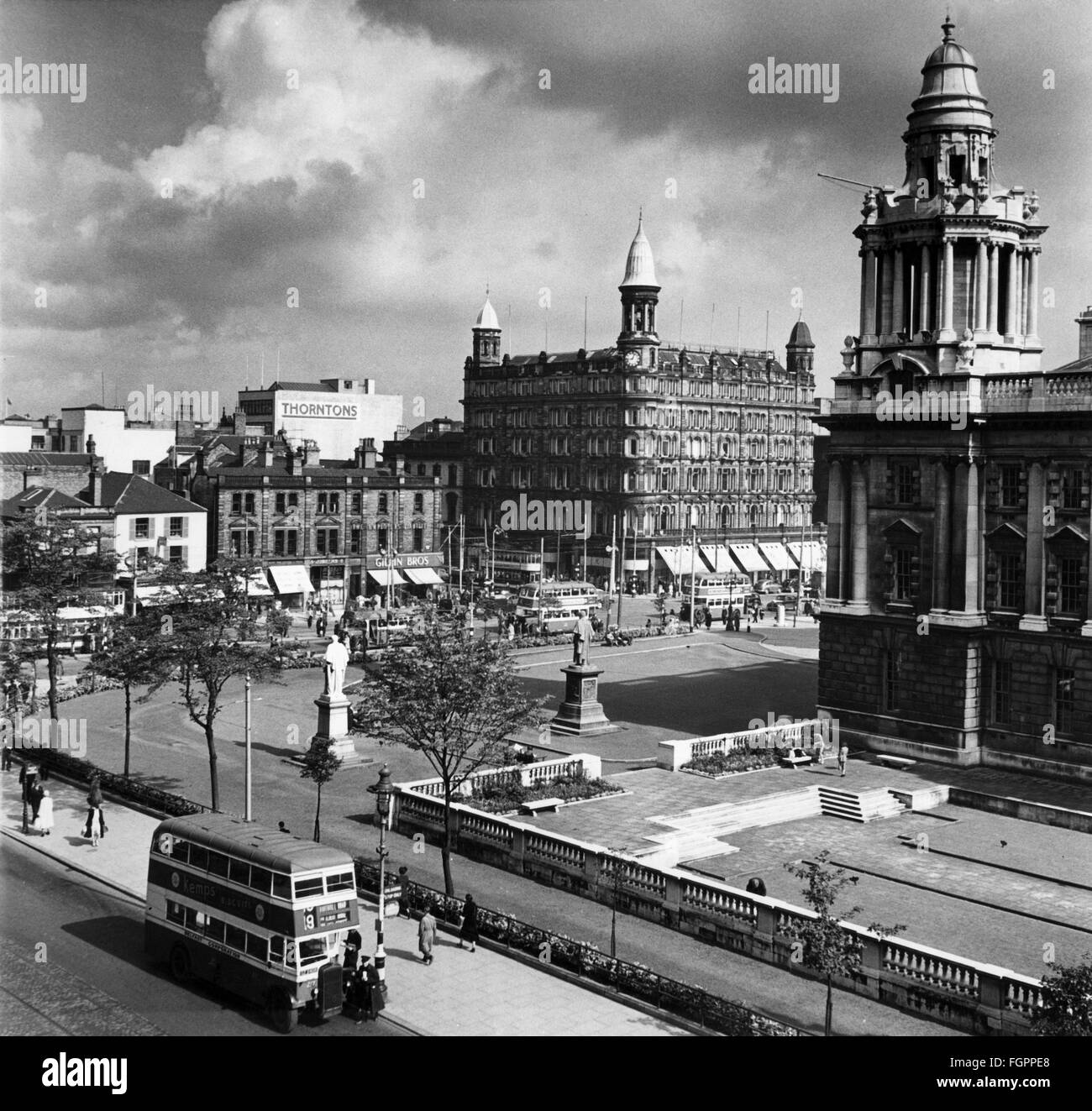 geography / travel, Great Britain, Belfast, buildings, city hall, exterior view, 1950s, 50s, 20th century, historic, - Stock Image