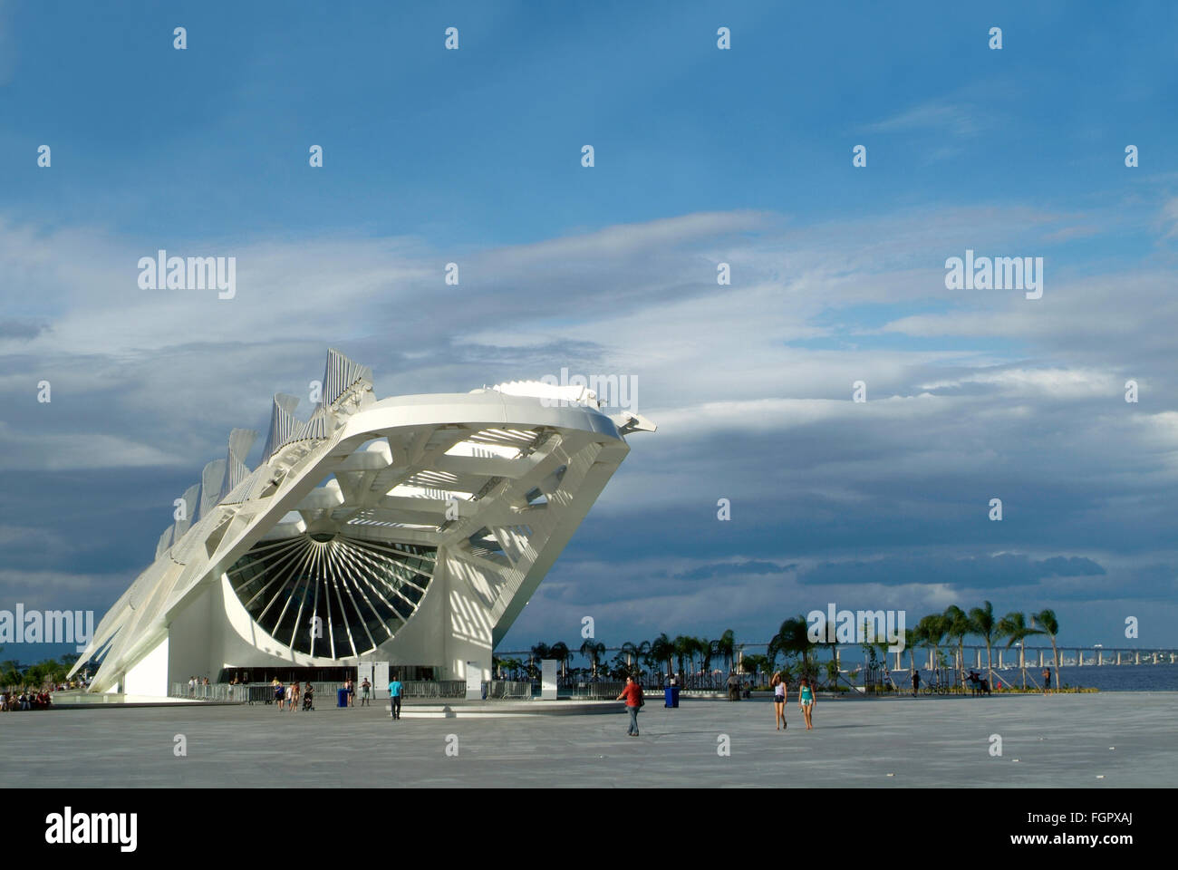 Rio de Janeiro, Brazil - February 18, 2016, Museum of Tomorrow (Tomorrow Museum), designed by Spanish architect - Stock Image