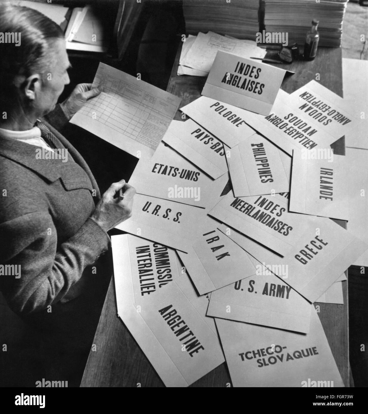 Paris Peace Conference 29.7.- 15.10.1946 - Stock Image