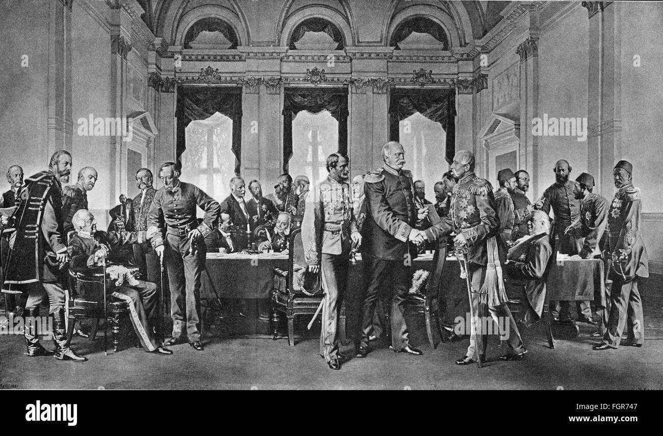 Congress of Berlin, 19th century - Stock Image