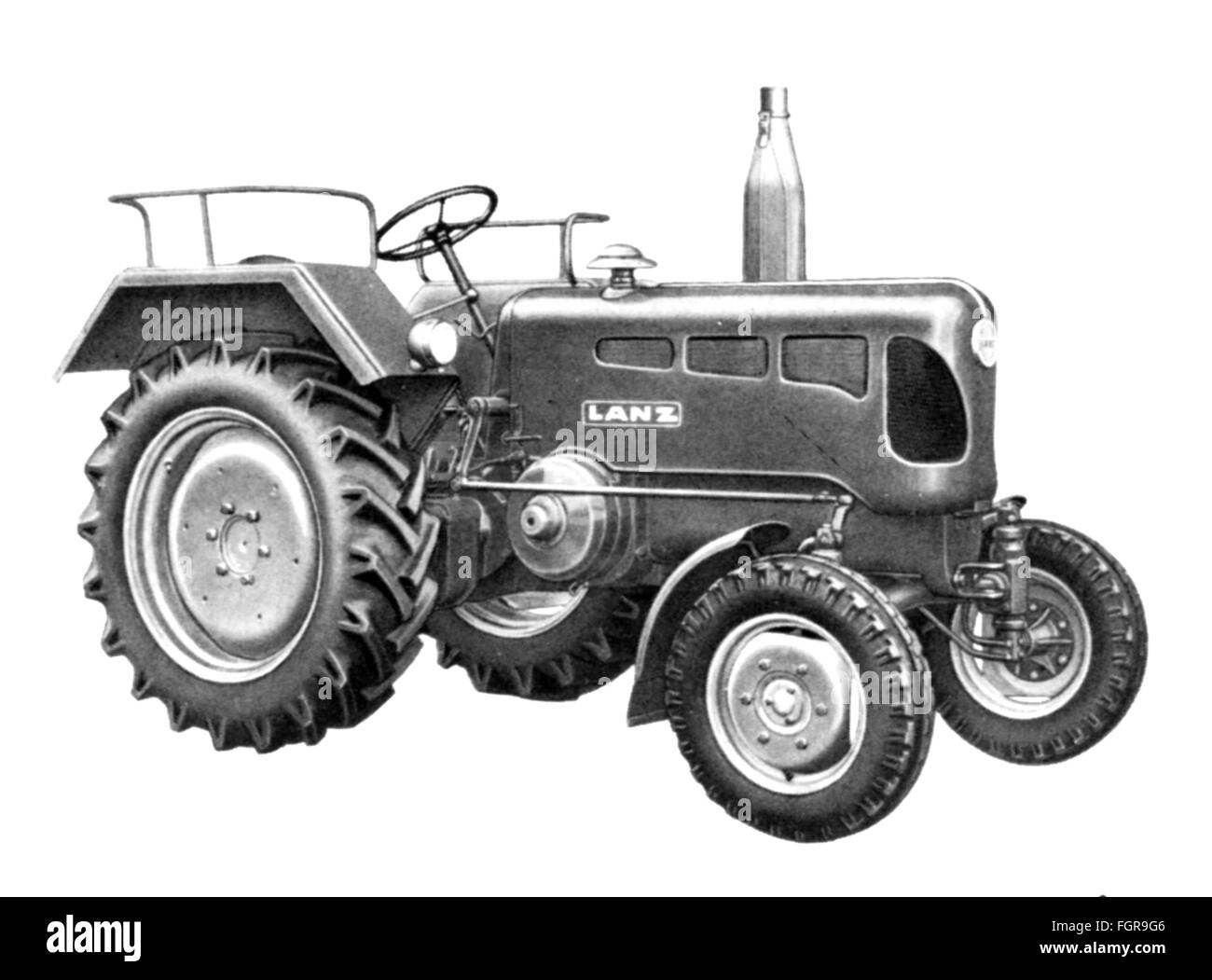 agriculture, machines, tractor type 'Bulldog' diesel by Heinrich Lanz AG, 1955, Additional-Rights-Clearences - Stock Image