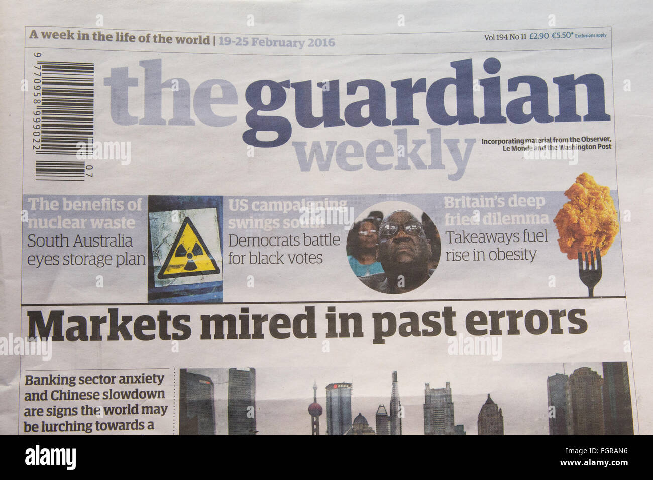 The guardian weekly newspaper - Stock Image