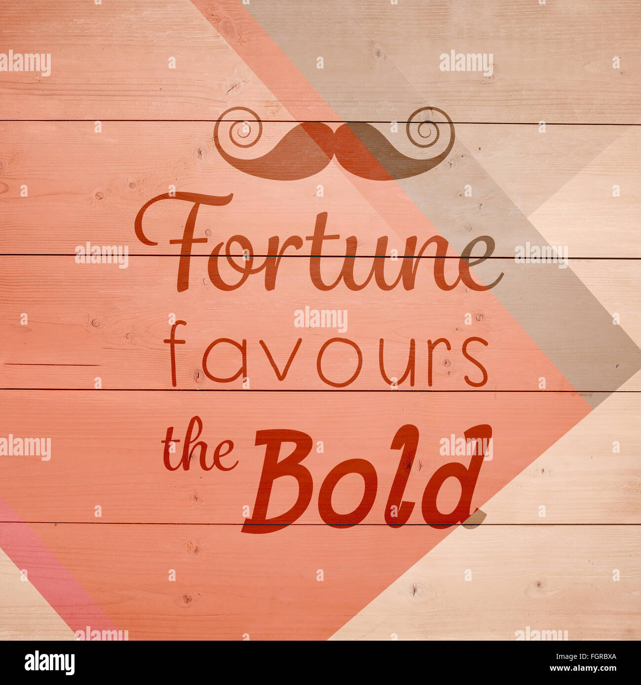 Composite image of fortune favours the bold words - Stock Image