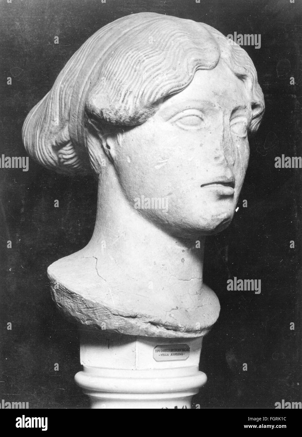 Bust of a female deity, 2nd century - Stock Image