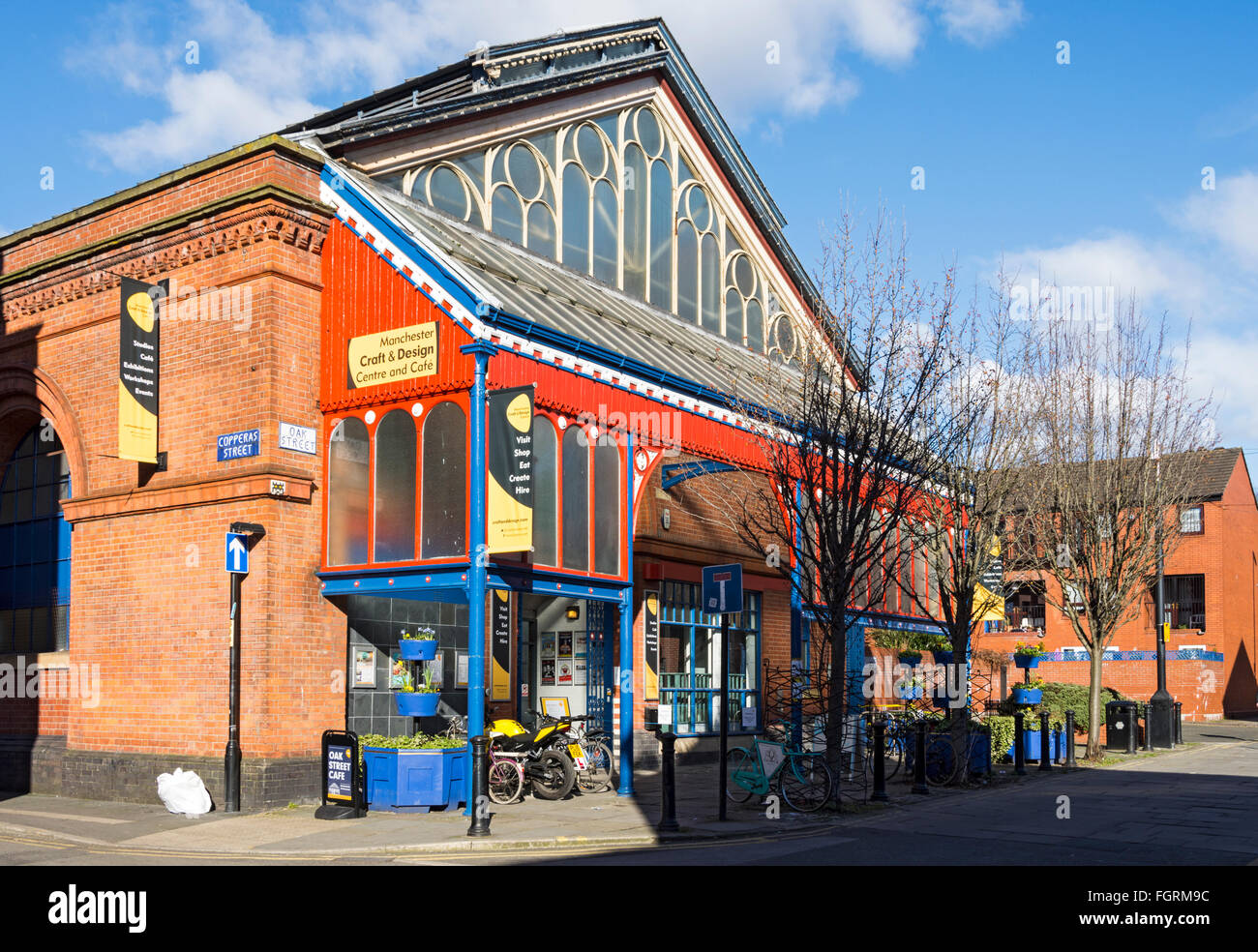 Manchester Craft and Design Centre, known as Manchester Craft Village, Oak Street, Northern Quarter, Manchester, Stock Photo