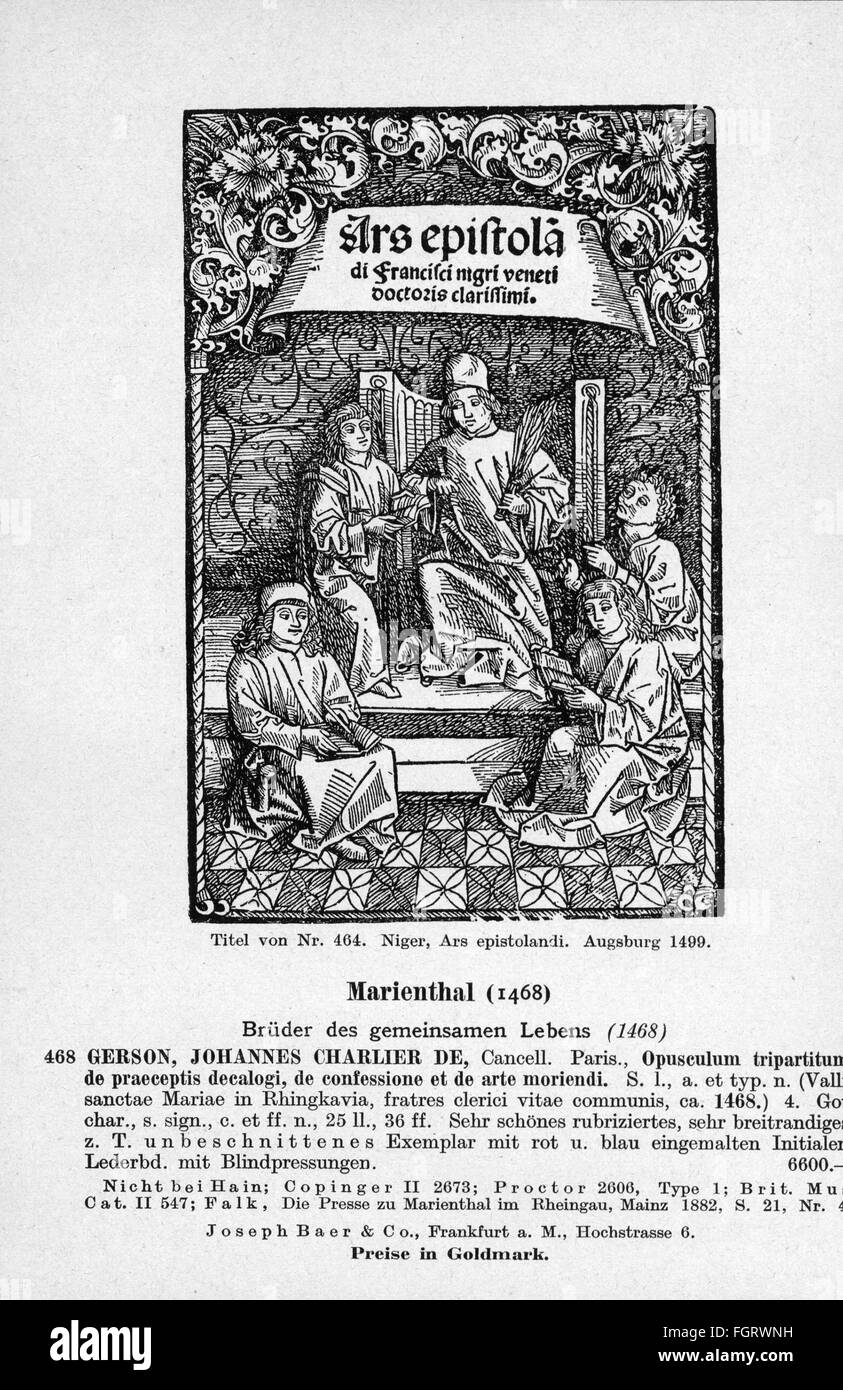 technics, letterpress / media, book 'Ars epistolandi' by Franciscus Niger  from Venetia
