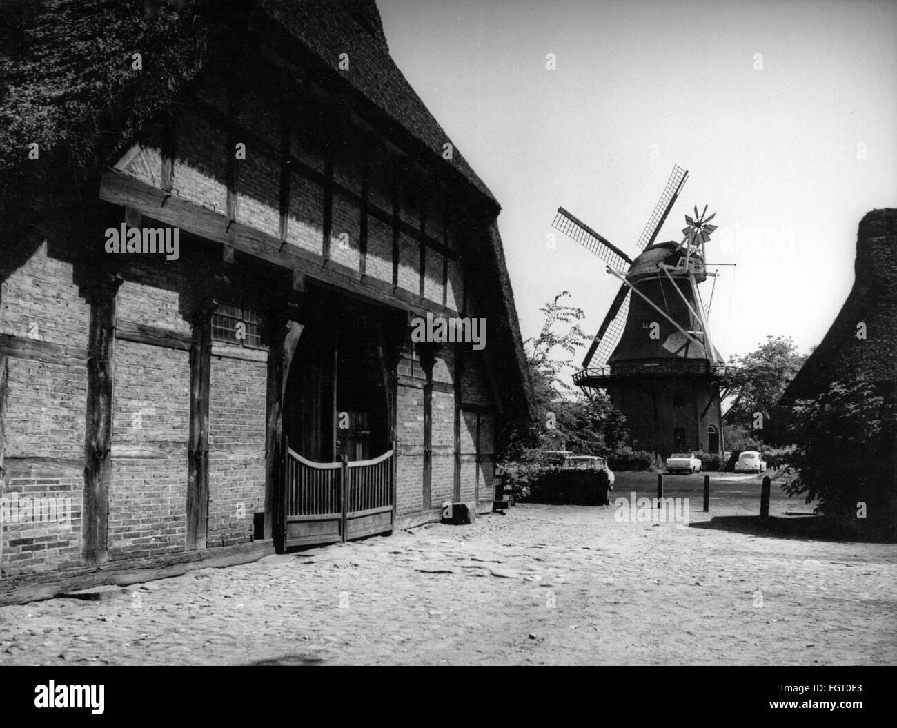 geography / travel, Germany, Bad Zwischenahn, museum / museums, open-air museum Ammerland farmhouse, building and - Stock Image