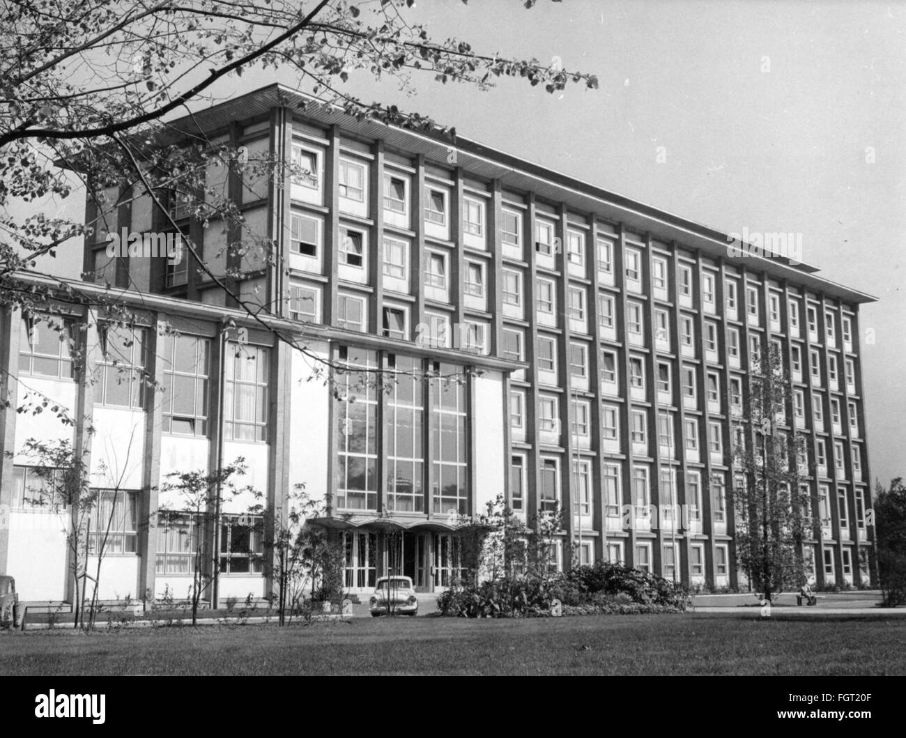 pedagogy, universities, Technical University Dresden, building of the faculty for nuclear technology, exterior view, - Stock Image