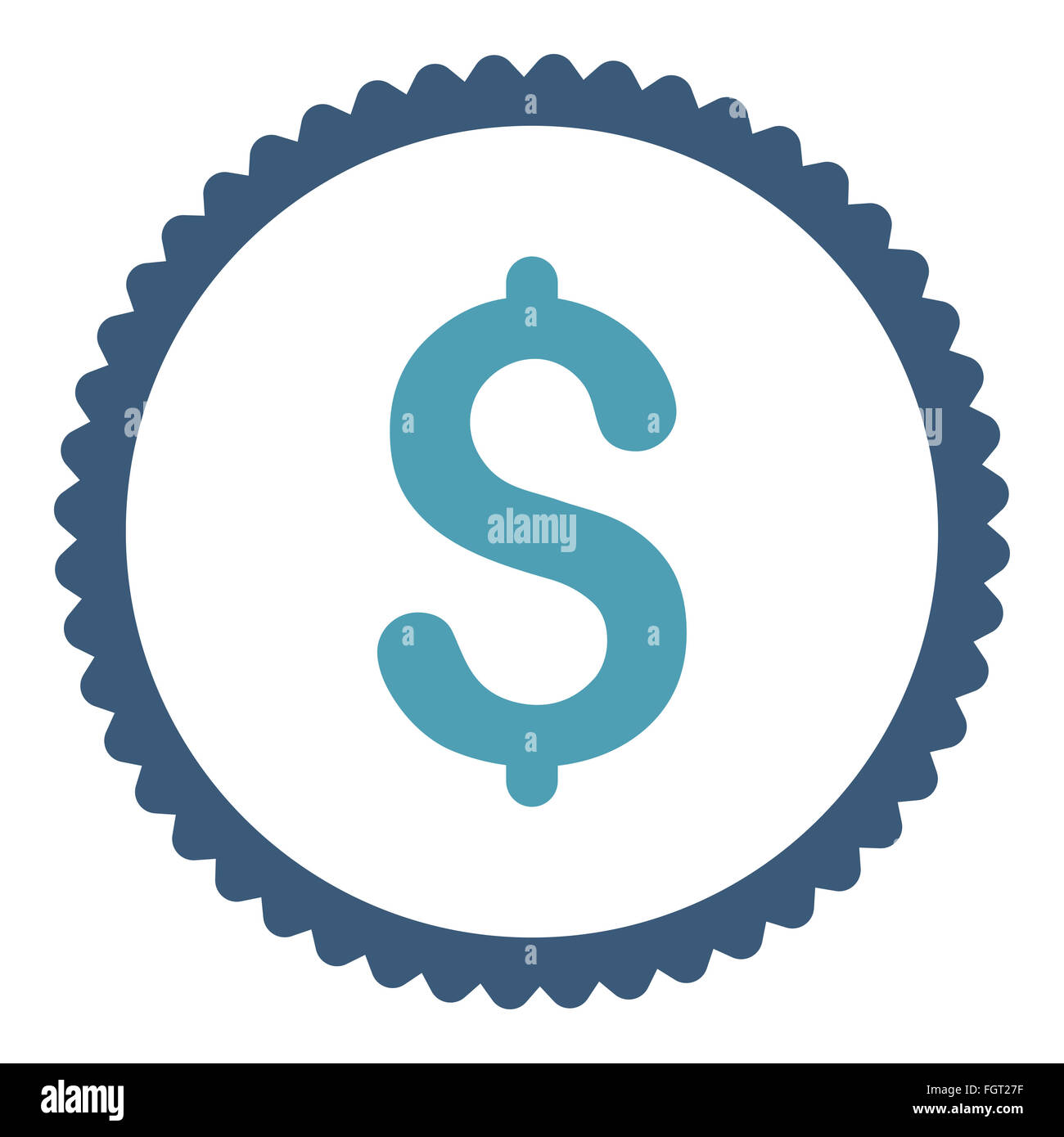 Dollar flat cyan and blue colors round stamp icon Stock Photo ...