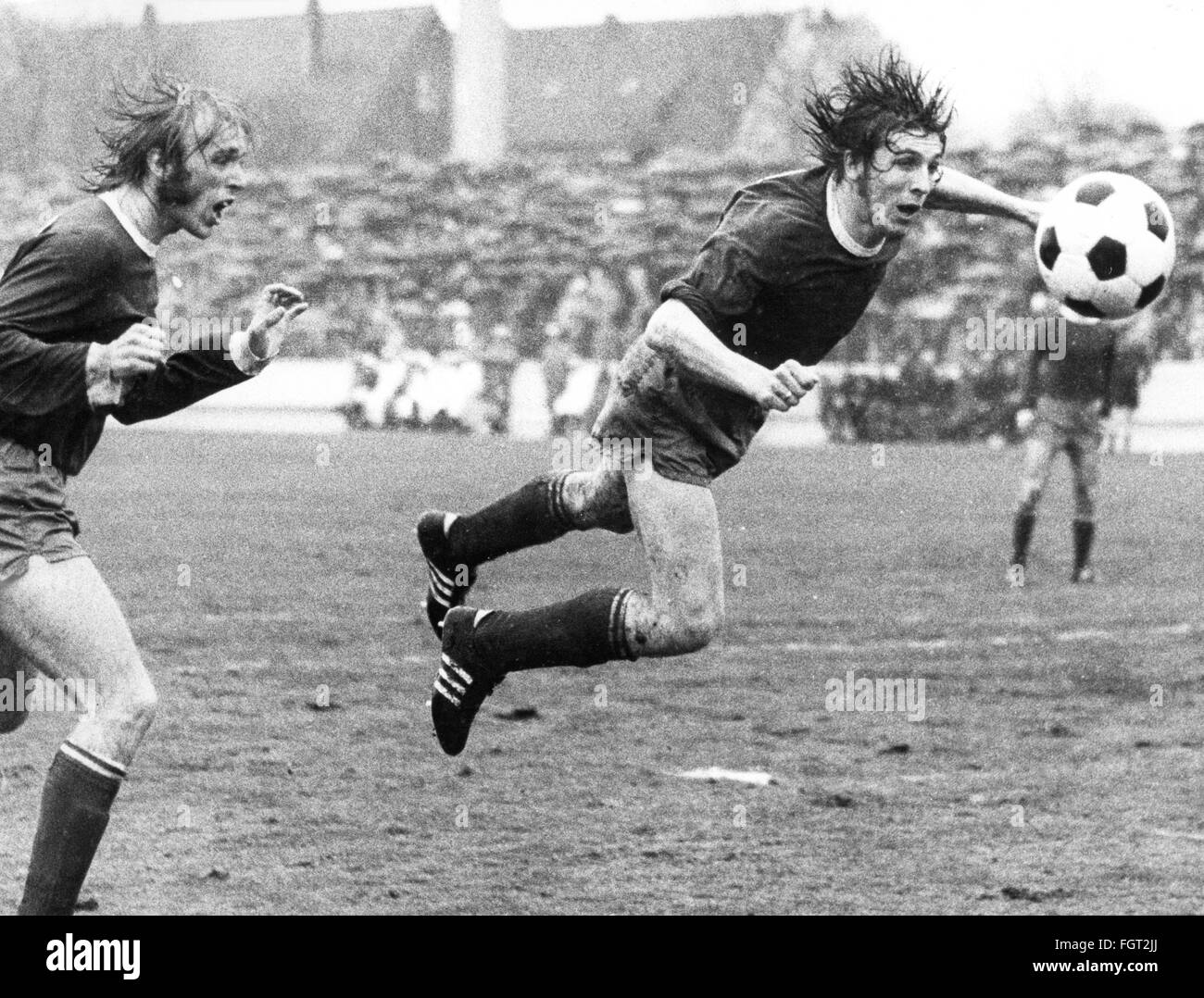 sports, football, Germany, national league, season 1971 / 1972, 28th match day, Rot-Weiss Oberhausen versus FC Schalke - Stock Image