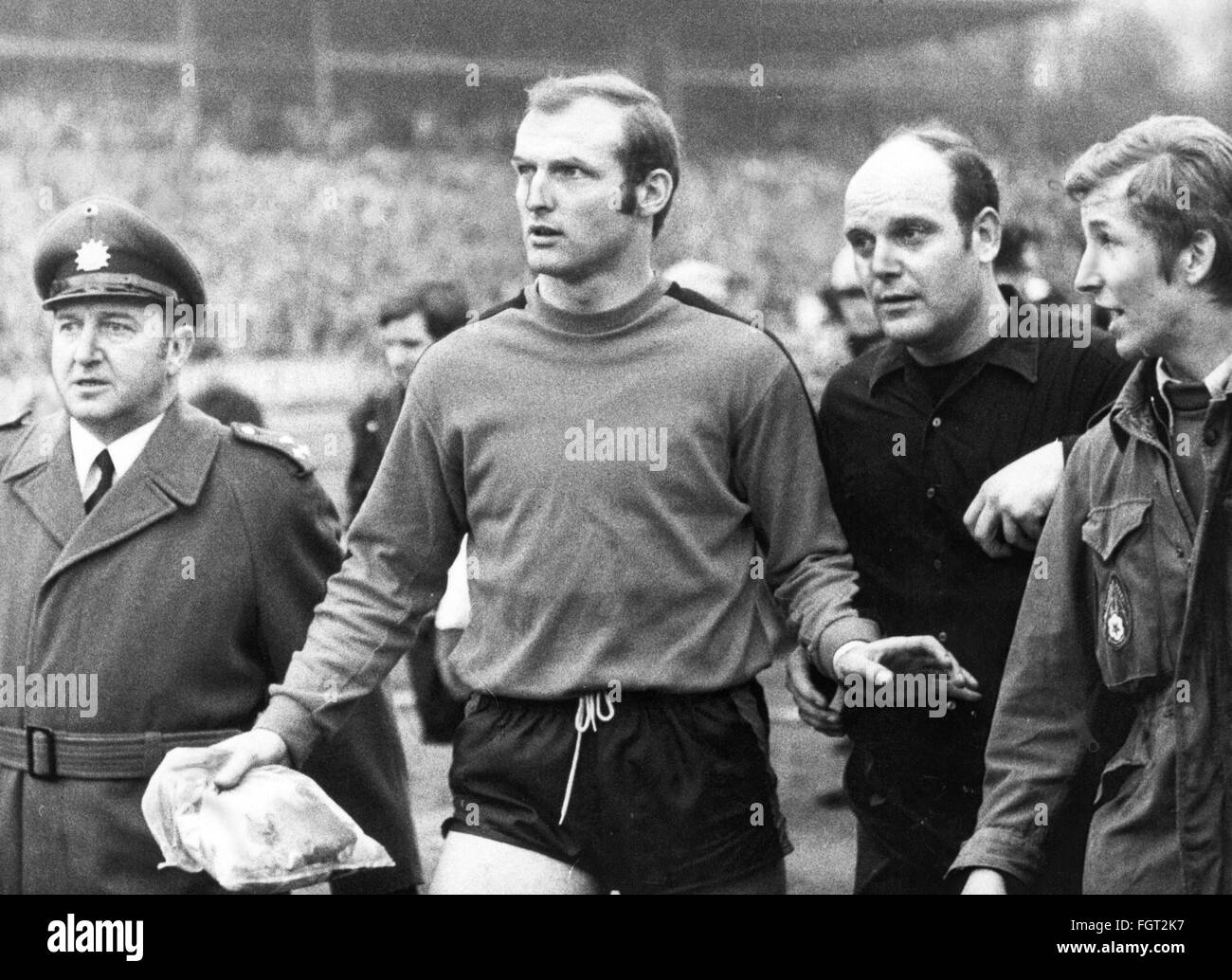 sports, football, matches, Germany, national league, 1969 / 1970, 28th match day, game 1. FC Koeln against Rot-Weiss - Stock Image