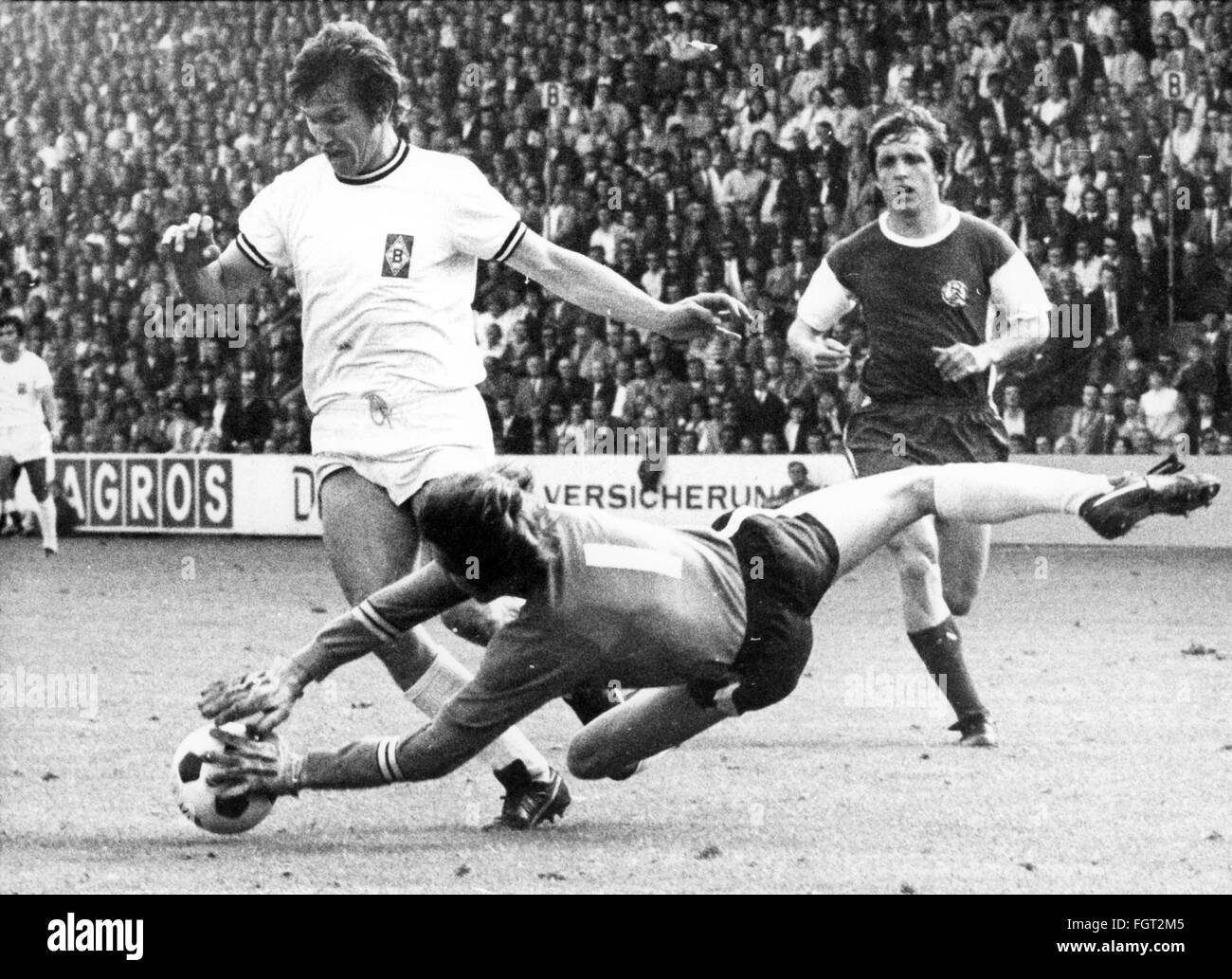 sports, football, games, Germany, national league, season 1970 / 1971, 33rd match day, game Borussia Moenchengladbach - Stock Image