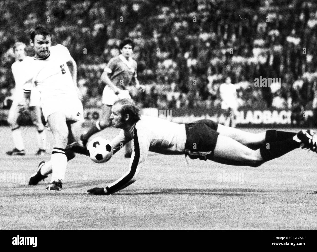sports, football, games, Germany, DFB-Pokal 1969 / 1970, quarter final, game Borussia Moenchengladbach versus 1. - Stock Image