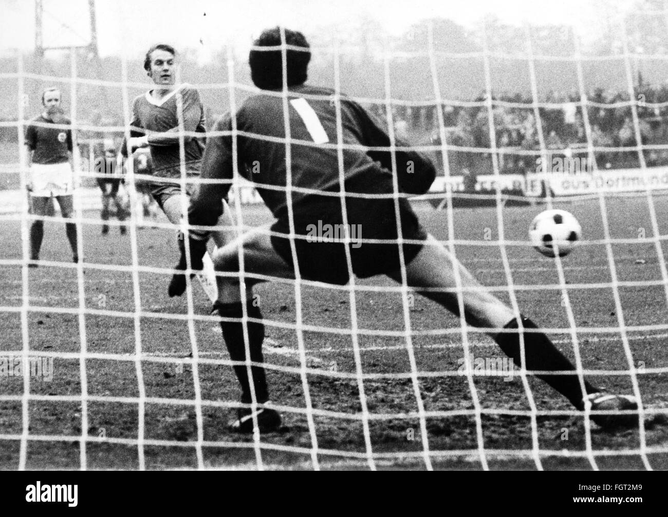 sports, football, games, Germany, national league, season 1970 / 1971, 13th match day, game Rot-Weiss Oberhausen - Stock Image