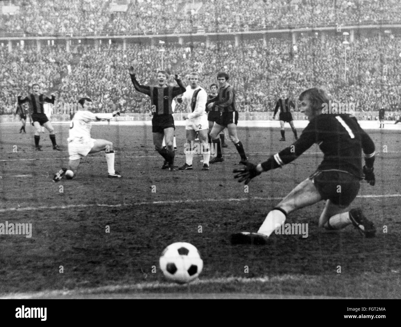 sports, football, games Germany, national league, season 1970 / 1971, 14th match day, game Hertha BSC versus Borussia - Stock Image