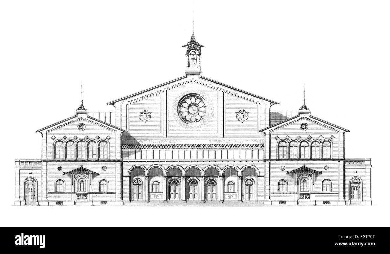 geography / travel, Germany, Munich, transport / transportation, railway, central station (Hauptbahnhof), built - Stock Image