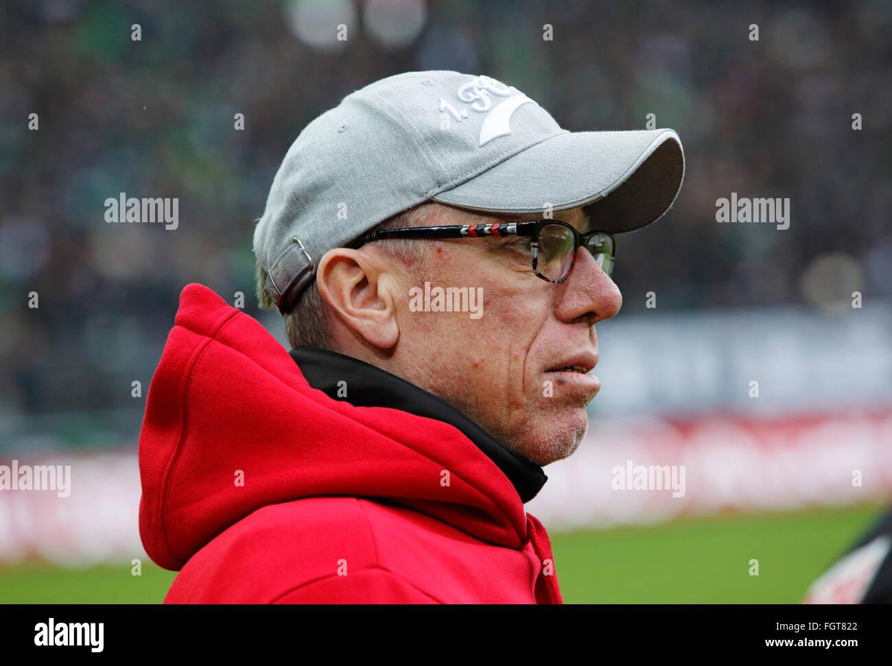 sports, football, Bundesliga, 2015/2016, Borussia Moenchengladbach versus 1. FC Koeln 1:0, Stadium Borussia Park, - Stock Image
