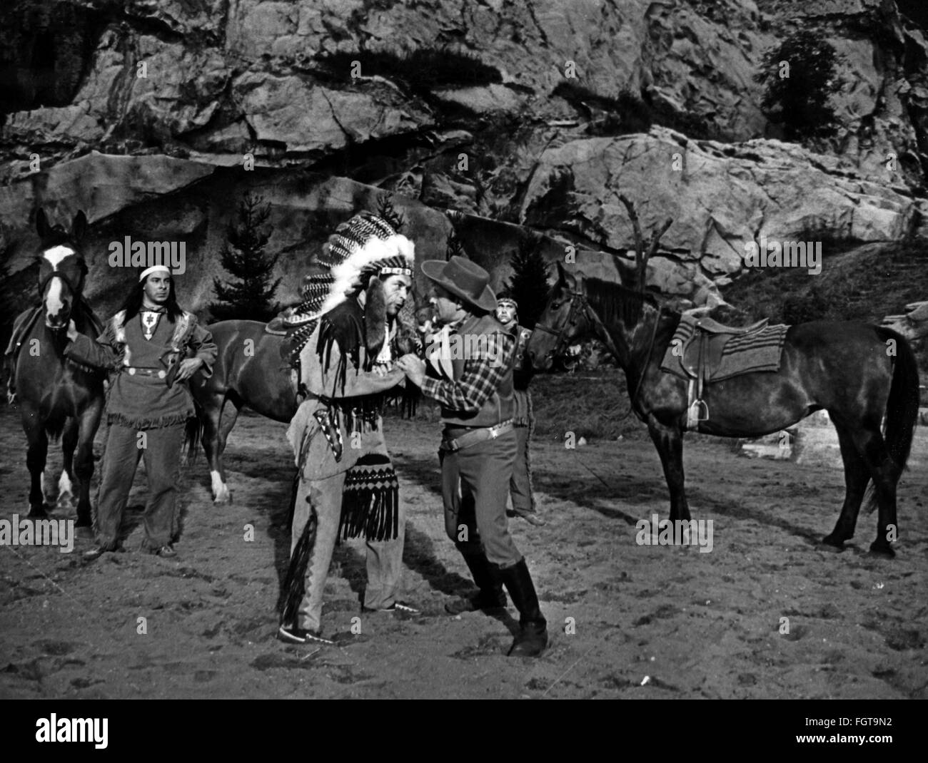 theatre / theater, theatre / theater festivals, Karl May Festival, Bad Segeberg, 1966, play 'Winnetou II - Ribanna - Stock Image