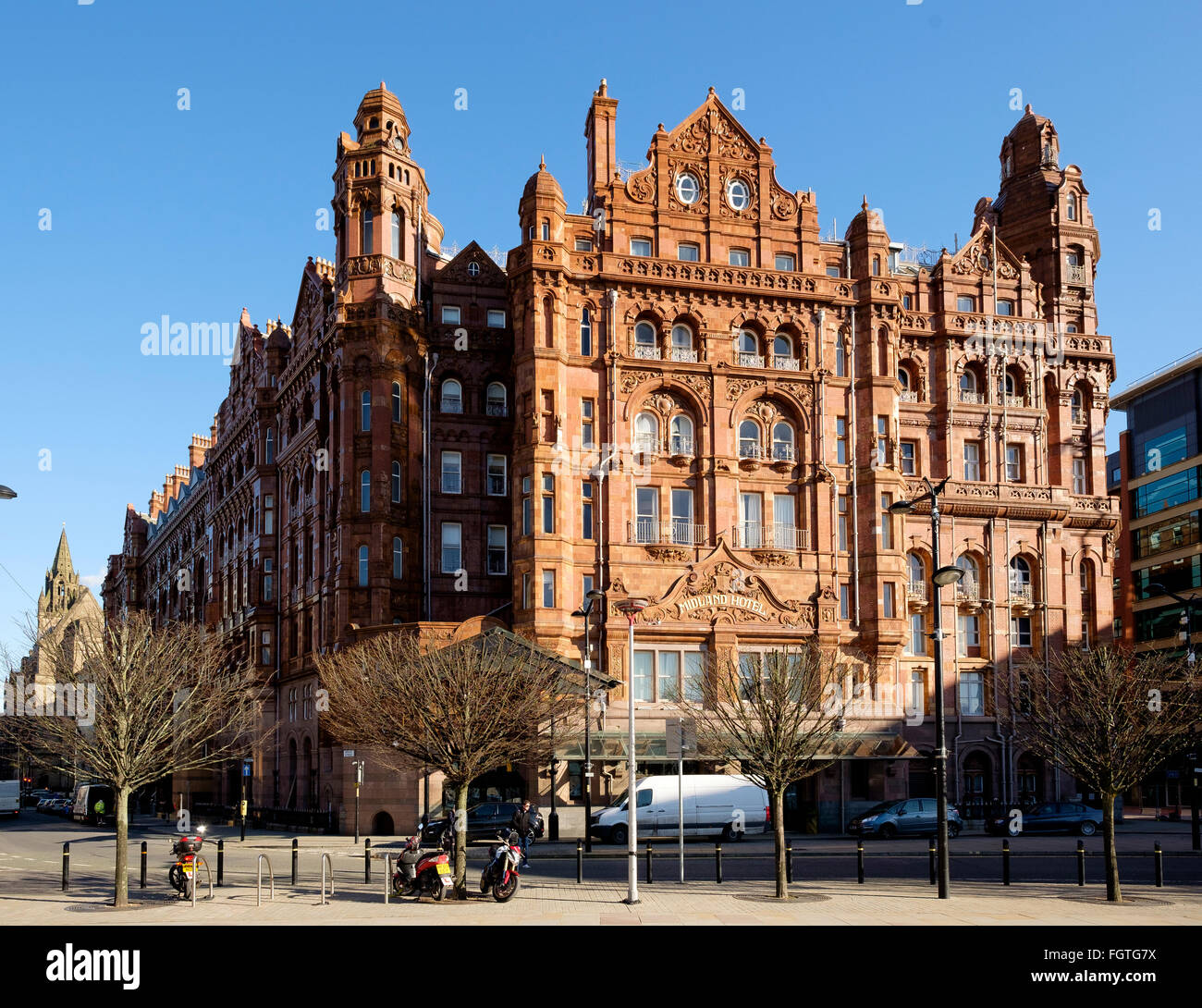 Manchester, UK - 15 February 2016: The Midland Hotel, facing the Manchester Central Convention Complex - Stock Image