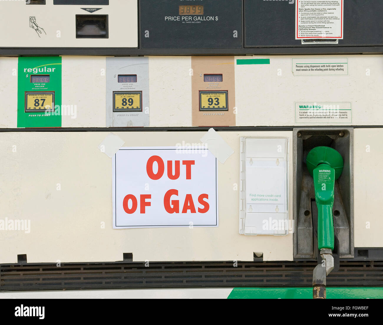 Out of Gasoline - Stock Image