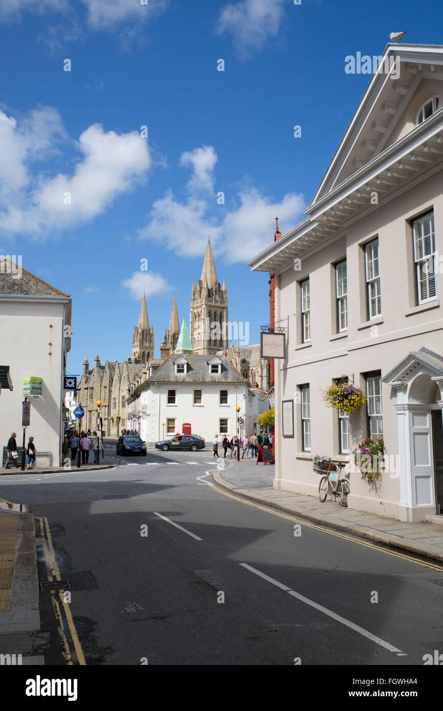 Truro; Princes Street; Cornwall; UK - Stock Image