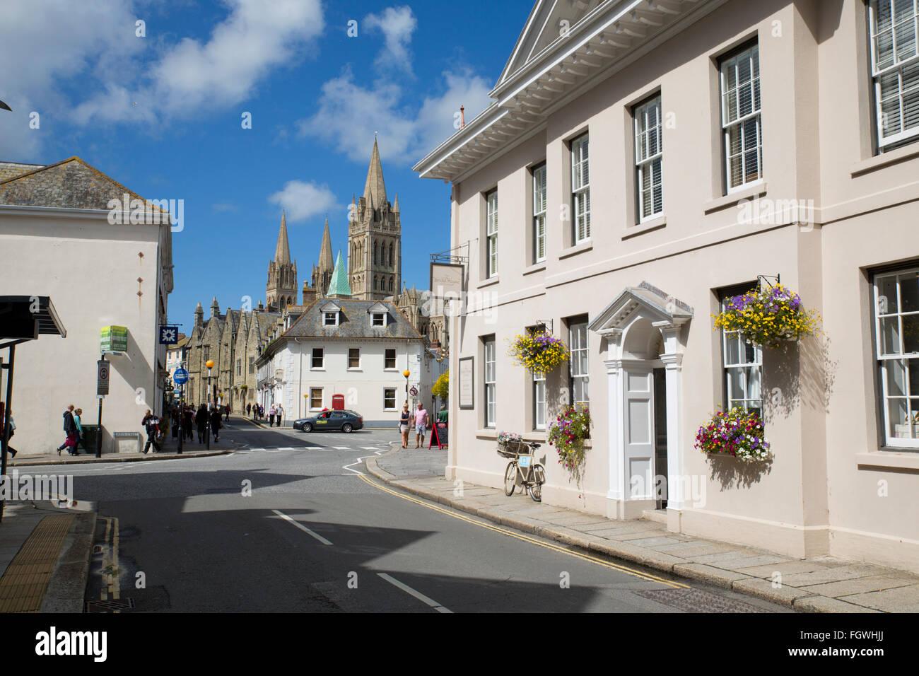 Truro;Princes Street; Cornwall; UK - Stock Image
