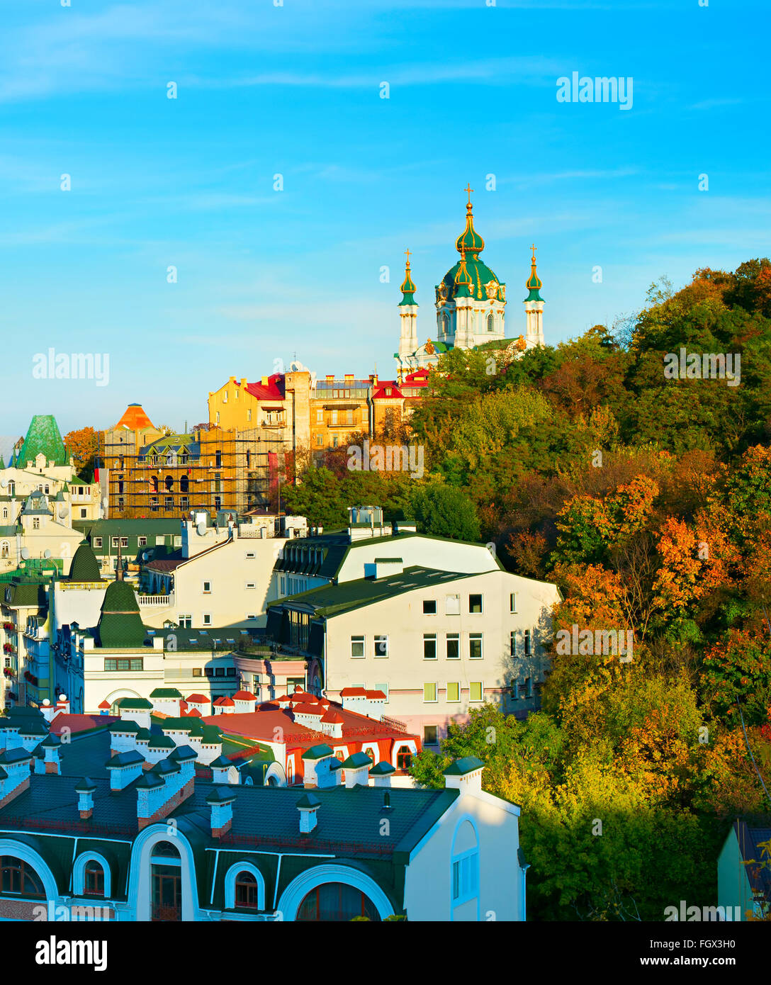 Andriyivskyy Descent in Kiev, Ukraine. - Stock Image