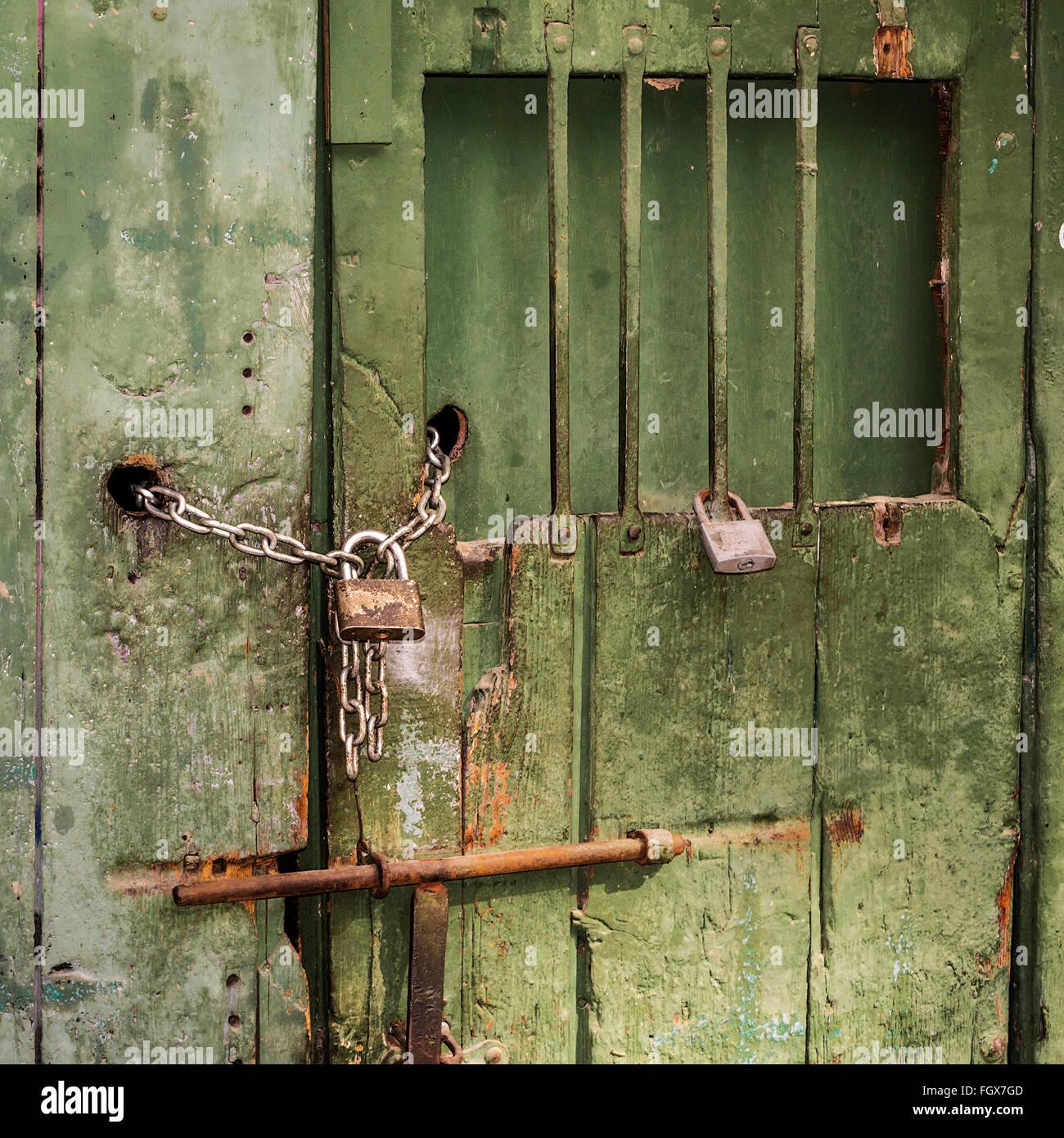 Locked and Barred Door Palma Majorca Spain & Locked and Barred Door Palma Majorca Spain Stock Photo: 96463037 - Alamy