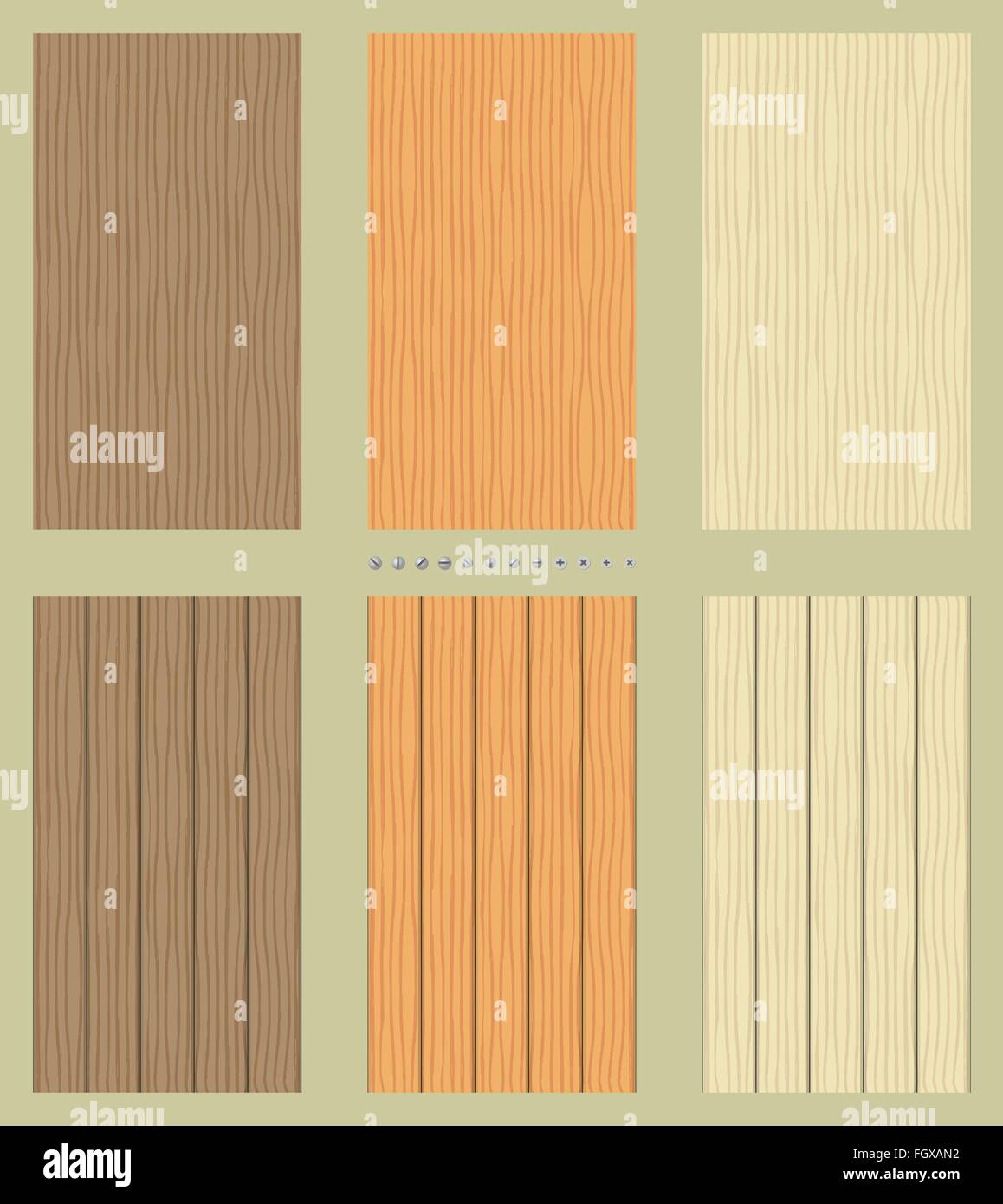 Seamless wooden backgrounds - Stock Image