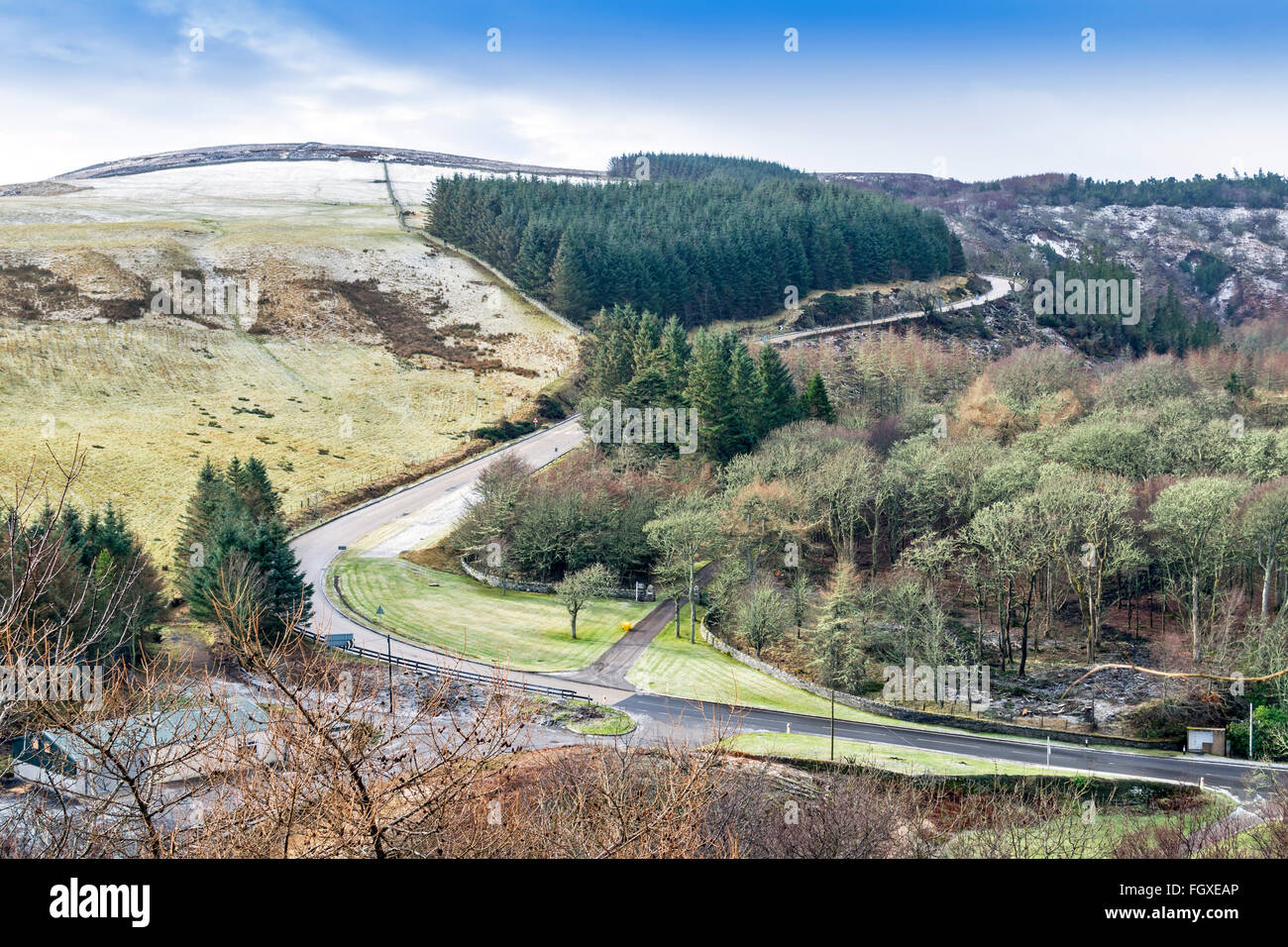 BERRIEDALE BRAES AND THE  A9 ROAD BETWEEN HELMSDALE AND LYBSTER CAITHNESS SCOTLAND - Stock Image