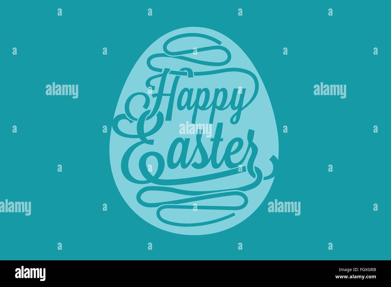 Happy easter greeting card with calligraphic words and egg stock happy easter greeting card with calligraphic words and egg m4hsunfo