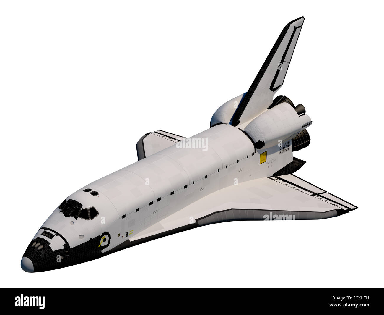 Realistic 3D Model Of Space Shuttle Orbiter. - Stock Image