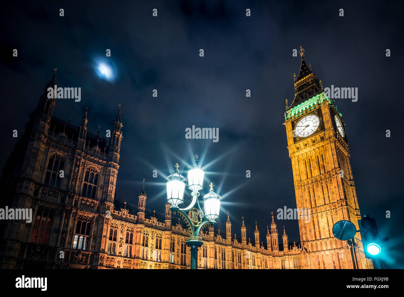 A photo of Big Ben and parliament in Westminster. - Stock Image