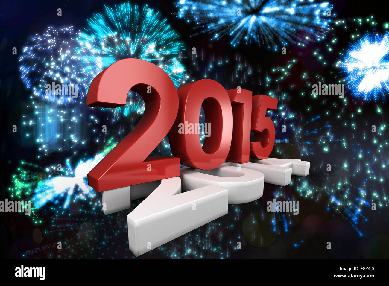 Composite image of 2015 squashing 2014 - Stock Image
