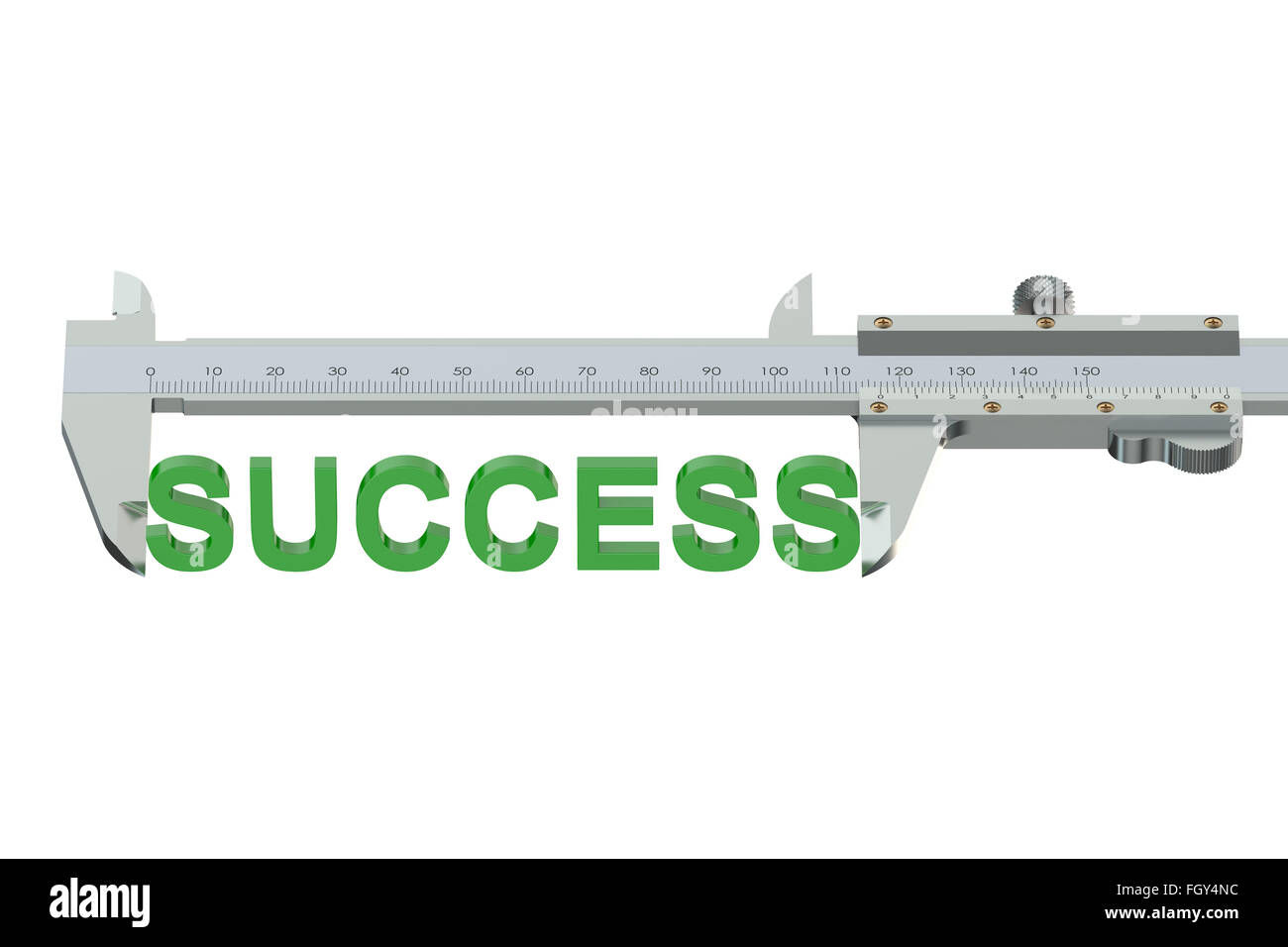 measuring success concept isolated on white background - Stock Image